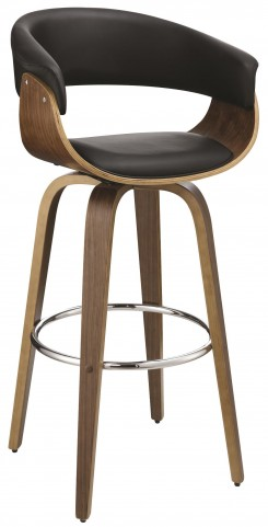 Black Upholstered Bar Stool