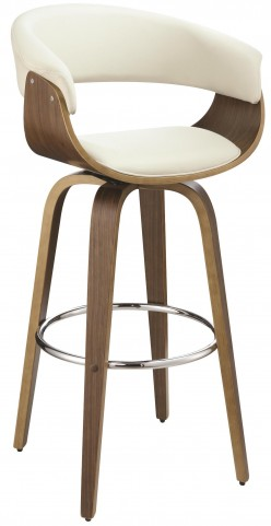 Ecru Upholstered Bar Stool