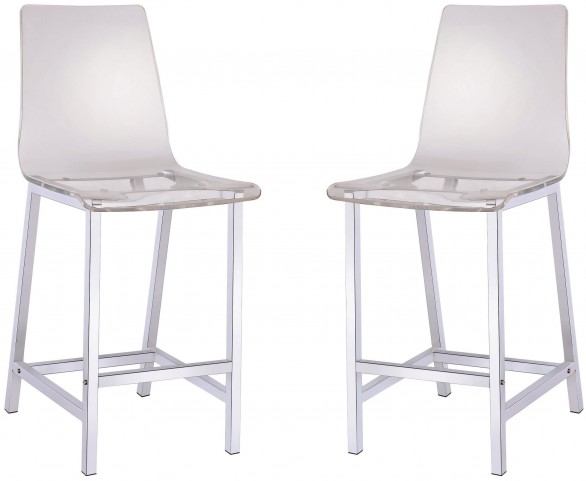 "29"" Clear Bar Stool Set of 2"