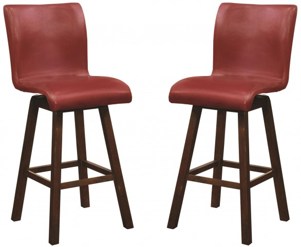 "29"" Red Barstool Set of 2"