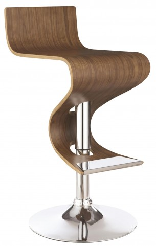 Walnut Adjustable Bar Stool