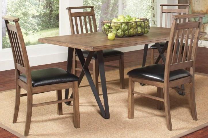 Ferguson Rustic Taupe Rectangular Dining Room Set