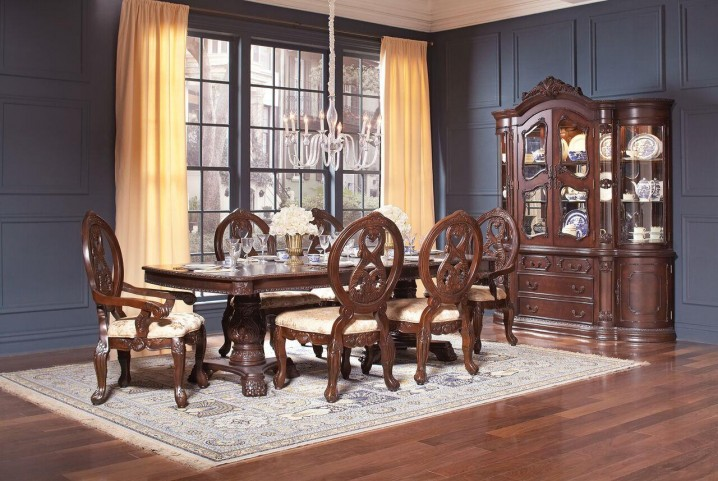 Jacques Dark Cherry Extendable Rectangular Dining Room Set