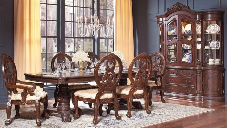 Jacques Dark Cherry Extendable Rectangular Dining Room Set