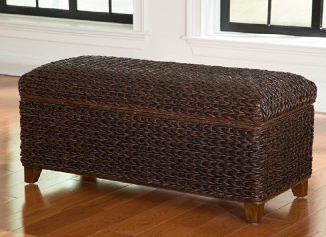 Laughton Dark Brown Woven Trunk