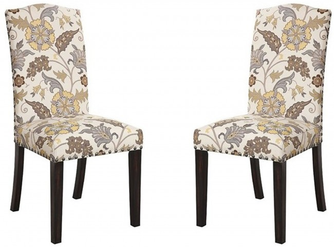 Matisse Floral Pattern Dining Side Chair Set of 2