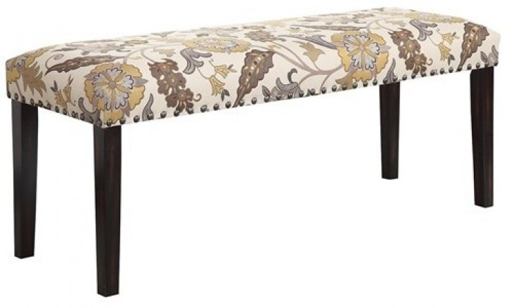 Matisse Floral Pattern Dining Bench