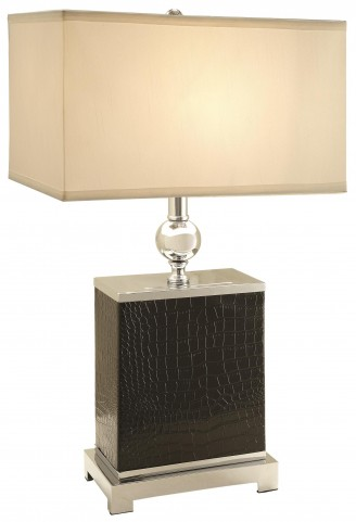 Textured Black Table Lamp Set of 2