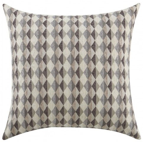 Grey Checkered Accent Pillow Set of 2