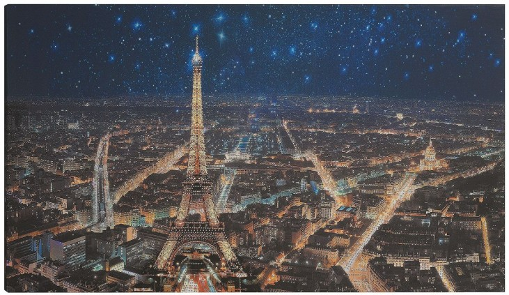 Starry Night In Paris Wall Art