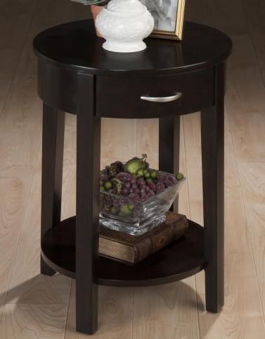 """Dark Merlot 18"""" Round Chairside Table"""