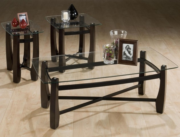 Tania Espresso 3 Piece Occasional Table Set
