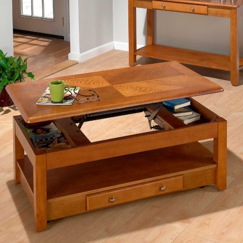 Sedona Oak Lift Top Cocktail Table