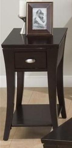 Manhattan Espresso Chairside Table
