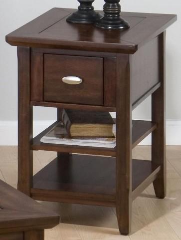 Bellingham Brown 1 Drawer Chairside Table