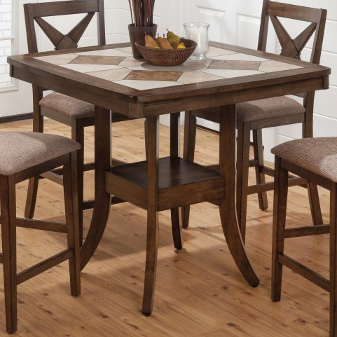 "Tucson 40"" Ceramic Tile Square Counter Height Dining Table"