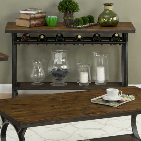 Harper's Press Dark Rustic Pine Sofa Table