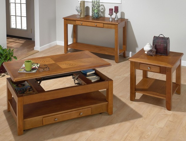 Sedona Oak Lift Top Occasional Table Set