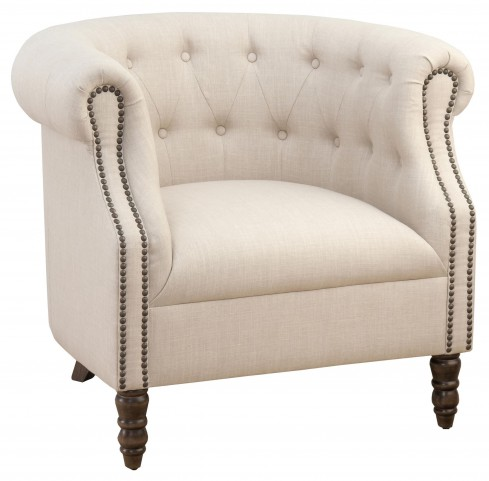 Grace Natural Tufted Club Chair