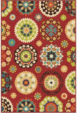 Orian Rugs Indoor/Outdoor Medallion Hubbard Multi Area Medium Rug