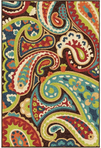 Orian Rugs Indoor/Outdoor Paisley Paisley Multi Area Medium Rug