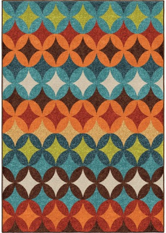Orian Rugs Indoor/Outdoor Shapes Berkley Multi Area Small Rug