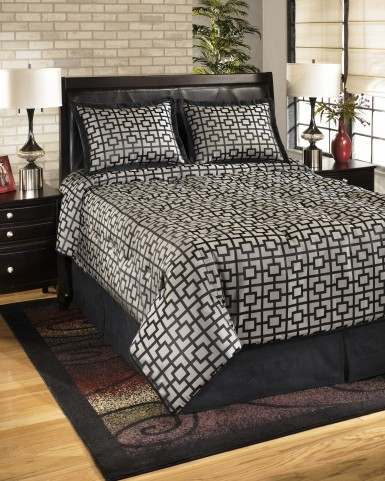 Maze Onyx Queen Bedding Set