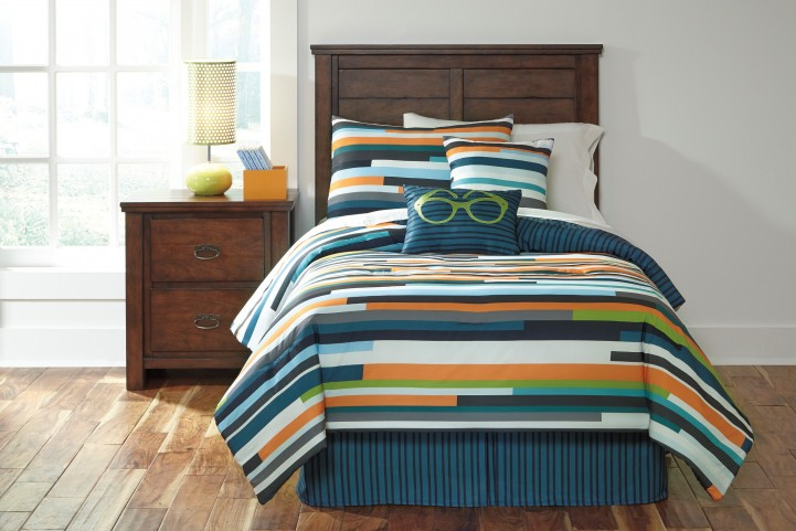 Seventy Stripe Twin Size Bedding Set
