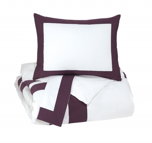 Daruka Plum King Duvet Cover Set