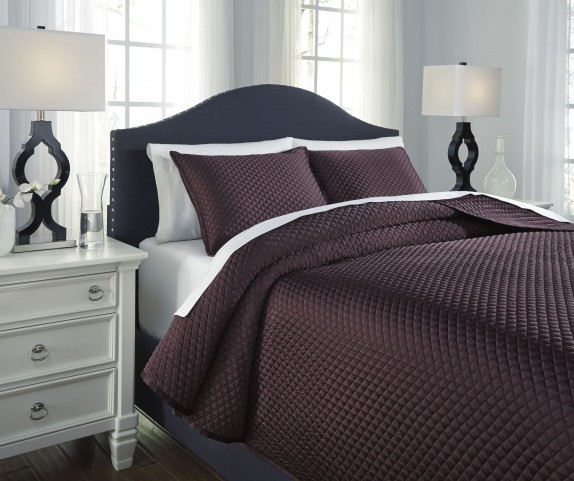 Dietrick Plum Queen Quilt Set
