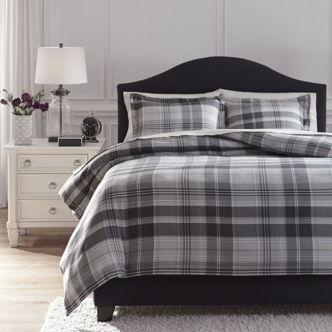 Danail Gray Queen Duvet Cover Set