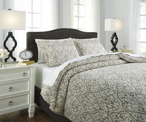 Danila Brown and Cream King Duvet Cover Set