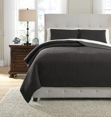 Bronx Black and Gray King Quilt Set