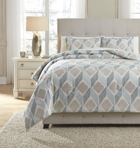 Amery Blue King Comforter Set