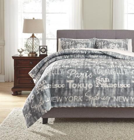 Jeremie Charcoal Queen Comforter Set