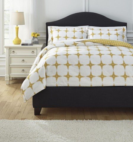 Cyrun Yellow Queen Duvet Set