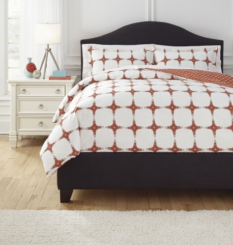 Cyrun Orange Queen Duvet Set
