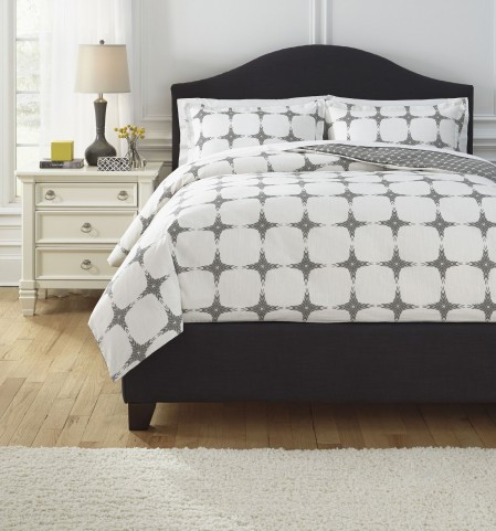 Cyrun Gray King Duvet Set