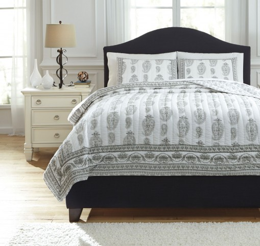 Almeda Gray King Coverlet Set