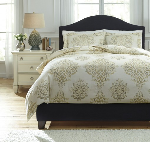 Fairholm Natural King Duvet Cover Set