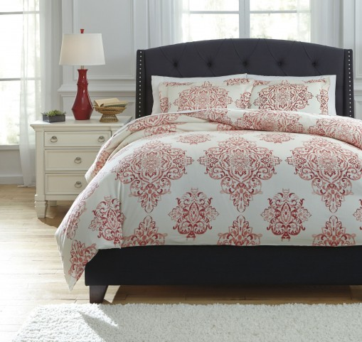 Fairholm Red Queen Duvet Cover Set