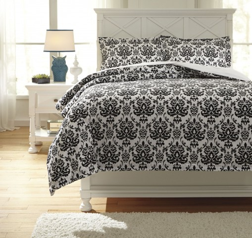 Alano Black Full Duvet Cover Set