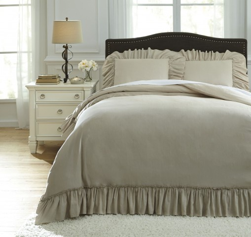 Clarksdale Natural Queen Duvet Cover Set