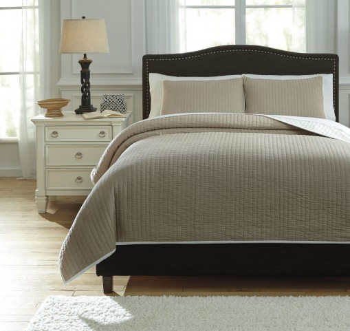 Orson Natural Queen Coverlet Set