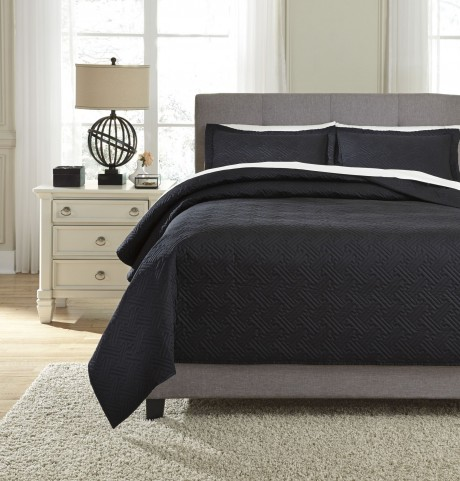 Aldis Black Queen Coverlet Set