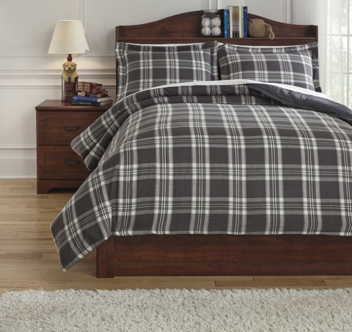 Baret Gray Full Duvet Cover Set