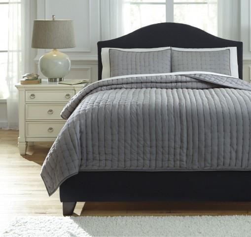 Teague Gray Queen Comforter Set