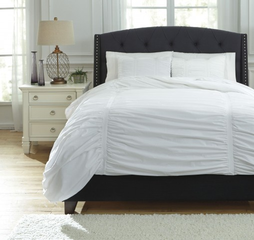 Tufton White Queen Duvet Cover Set