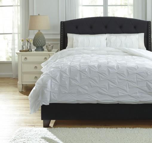 Rimy White Queen Comforter Set