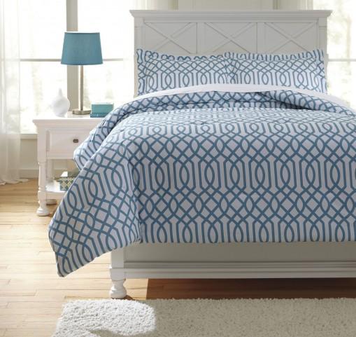 Loomis Aqua Twin Comforter Set
